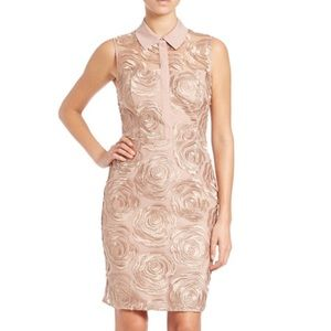 Rachel Roy Rose Gold Floral Embroidered Sheath